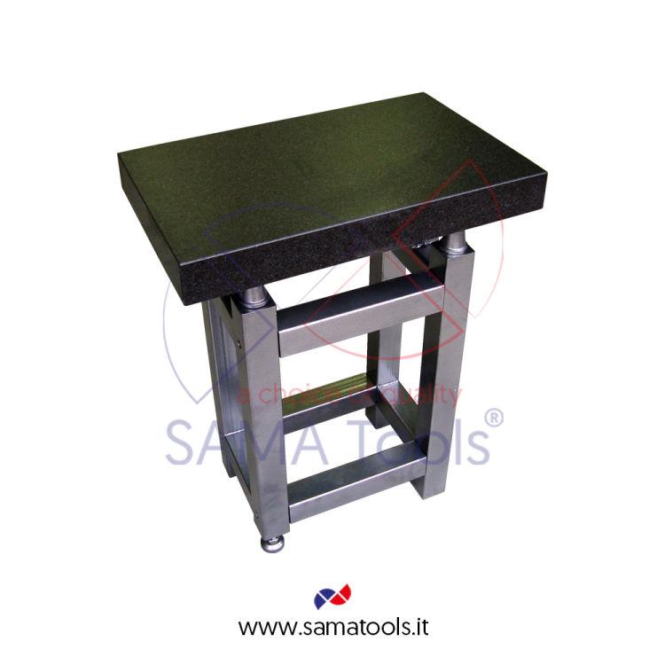 """Piano di riscontro in granito grado """"0"""" - 630x400x80 + tavolo art. SA5363"""