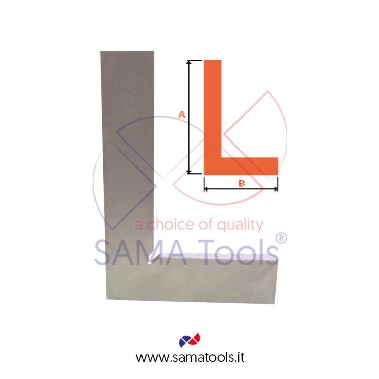 Squadra semplice in acciaio indeformabile DIN875/II - 500x250mm