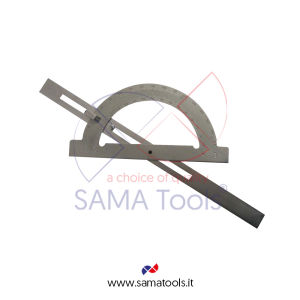 Steel protractor with adjustable rod