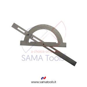 Goniometro con asta scorrevole in acciaio - Arco/Asta 150/300mm